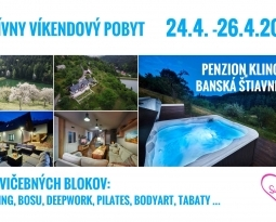Aktívny víkendový pobyt 24.4. – 26.4.2020 Klinger Banská Štiavnica