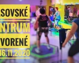 SÁSOVSKÉ CENTRUM OTVORENÉ od 16.11.2020
