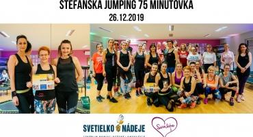 Štefánska jumping 75 minútovka pre Svetielko Nádeje 26.12.2019